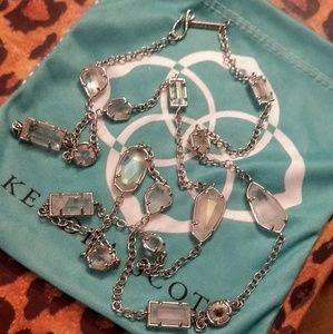 Kendra Scott Iridescent Jackinta Silver Necklace